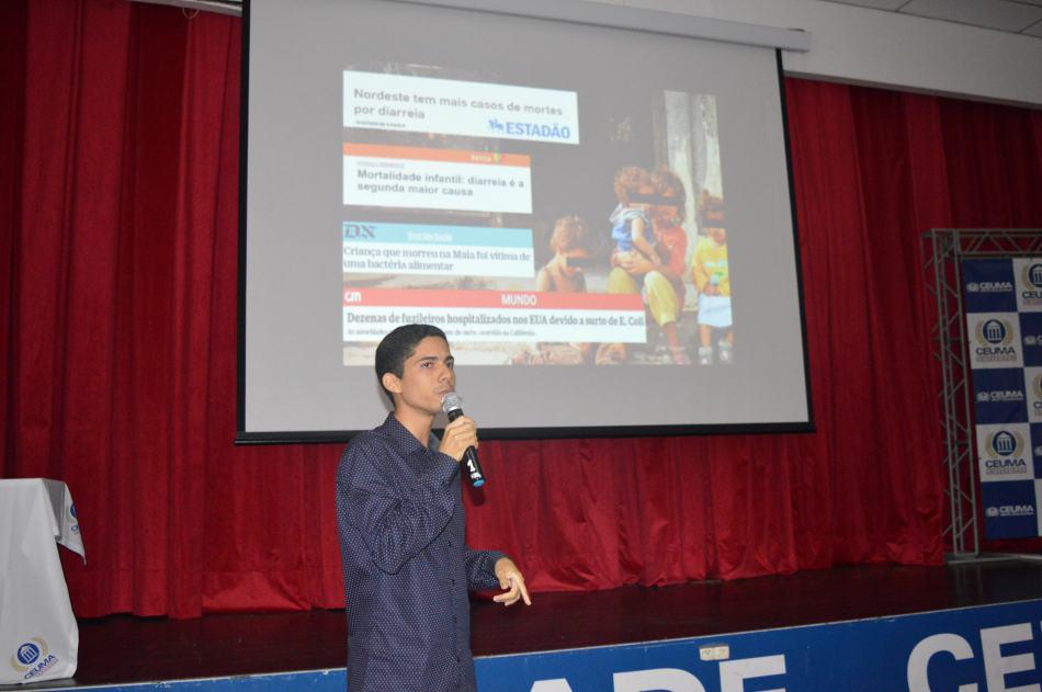 Palestrante Wellison Pereira, participante da Mesa Redonda