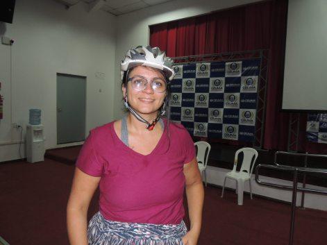 Jaana Pinheiro, relatou sobre experiências no Pedal das Minas